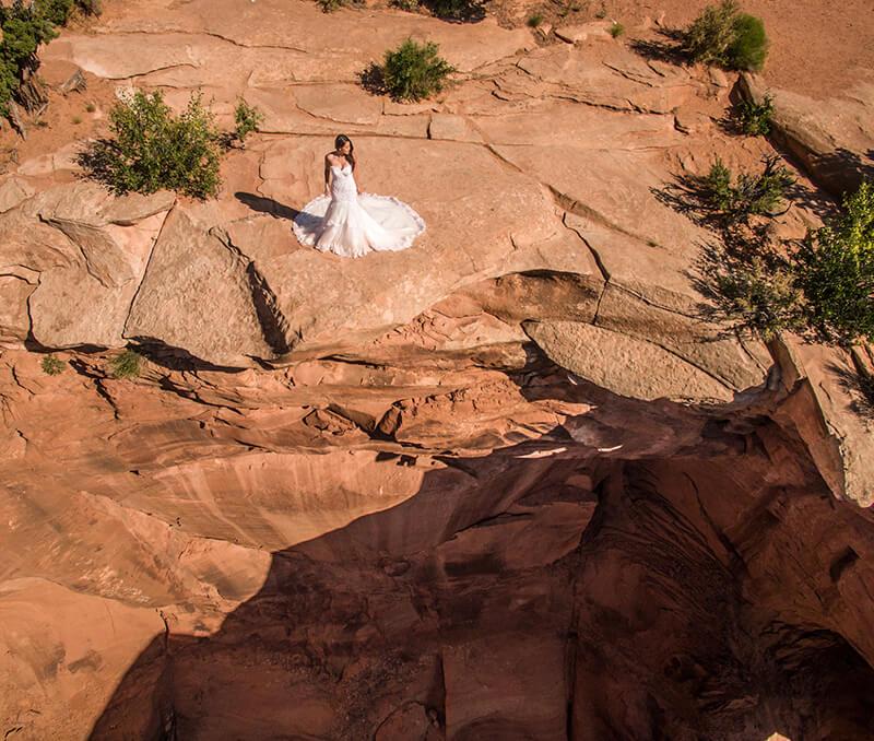 Aerial Wedding Photography Phoenix